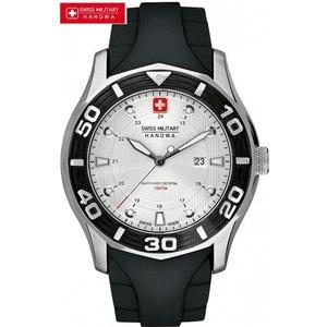 Mens Swiss Military Hanowa Oceanic Watch 6-4170.04.001.07 Silver / Black, Silver / Black