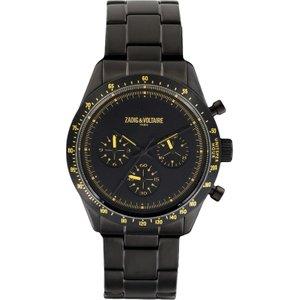 Mens Zadig & Voltaire Master Chronograph Watch Zvm302 Black / Black, Black / Black