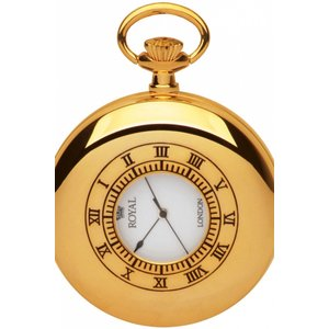 Royal London Pocket Half Hunter Pocket Watch 4410d1c White / Gold, White / Gold