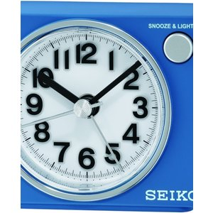 Seiko Clocks Bedside Alarm Clock Qhe100l White, White