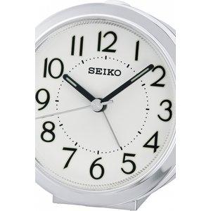 Seiko Clocks Bedside Alarm Clock Qhe146s White / White, White / White