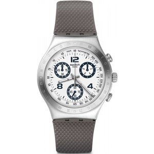 Unisex Swatch Classylicious Chronograph Watch Ycs113c Off White / Brown, Off white / Brown