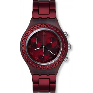 Unisex Swatch Ruby Brillance Chronograph Watch Svcr1000ag Red / Purple, Red / Purple