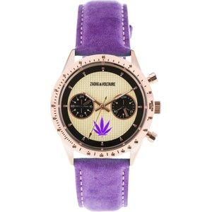 Unisex Zadig & Voltaire Master Watch Zvm110 Cream / Purple, Cream / Purple
