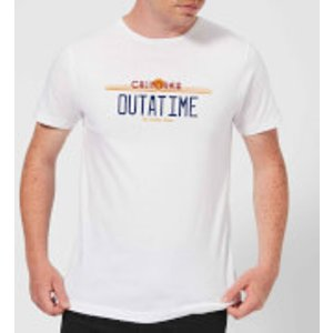 Back To The Future Outatime Plate T-shirt - White - 3xl - White Mt 3555 Ffffff 3xl General Clothing, White