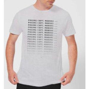 Captain Marvel Paging Men's T-shirt - Grey - S - Grey Mt 11054 888888 S General Clothing, Grey