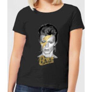 David Bowie Aladdin Sane On Black Women's T-shirt - Black - 5xl - Black Wt 18154 000000 5xl General Clothing, Black