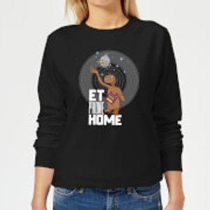 E.t. The Extra Terrestrial E.t. Phone Home Women's Sweatshirt - Black - L - Black Ws 2512 000000 L General Clothing, Black