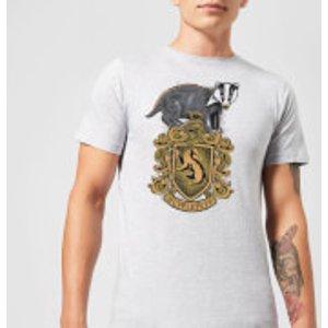 Harry Potter Hufflepuff Drawn Crest Men's T-shirt - Grey - Xl - Grey Mt 8336 888888 Xl General Clothing, Grey