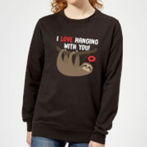 By Iwoot I Love Hanging With You Women's Sweatshirt - Black - 3xl - Black Ws 1639 000000 3xl General Clothing, Black