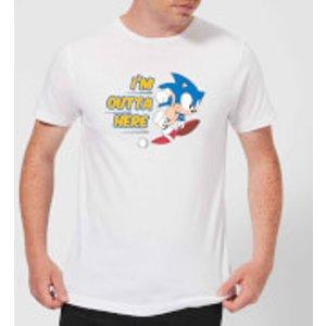 Sega I'm Outta Here Men's T-shirt - White - L - White Mt 3125 Ffffff L General Clothing, White