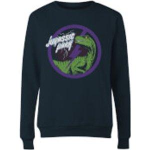 Jurassic Park Evergreen Jurassic Park Raptor Bolt Women's Sweatshirt - Navy - M  Ws 32452 263147 M General Clothing