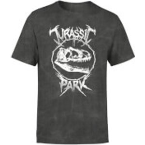 Jurassic Park T-rex Bones Unisex T-shirt - Black Acid Wash - Xxl Mt 33111 424242 Xxl General Clothing, Black