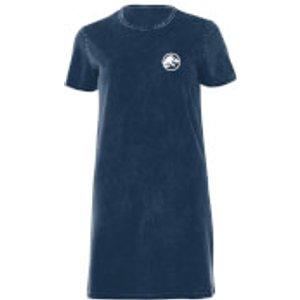 Jurassic Park White Women's T-shirt Dress - Navy Acid Wash - L - Navy Acid Wash Dre 44817 37586c L General Clothing, Navy Acid Wash