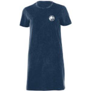 Jurassic Park White Women's T-shirt Dress - Navy Acid Wash - M - Navy Acid Wash Dre 44817 37586c M General Clothing, Navy Acid Wash
