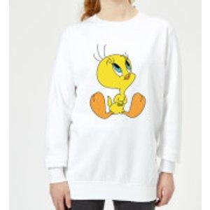 Looney Tunes Tweety Sitting Women's Sweatshirt - White - M - White Ws 4125 Ffffff M General Clothing, White