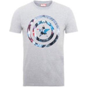 Marvel Avengers Assemble Captain America Shield Montage T-shirt - Grey - Xxl - Grey 64000 Xxl 1520163 General Clothing, Grey