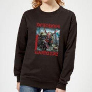 Marvel Deadpool Here Lies Deadpool Women's Sweatshirt - Black - 3xl - Black Ws 2053 000000 3xl General Clothing, Black