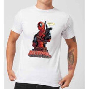 Marvel Deadpool Hey You Men's T-shirt - White - 4xl - White Mt 4554 Ffffff 4xl General Clothing, White