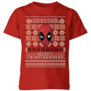 Marvel Deadpool Kids Christmas T-shirt - Red - 7-8 Years - Red Yt 7701 B1302a Ym General Clothing, Red