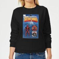 Marvel Deadpool Secret Wars Action Figure Women's Sweatshirt - Black - Xs - Black Ws 4560 000000 Xs General Clothing, Black