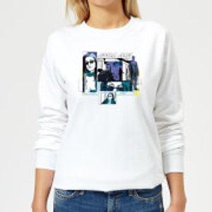 Marvel Knights Jessica Jones Comic Panels Women's Sweatshirt - White - M - White Ws 4749 Ffffff M General Clothing, White