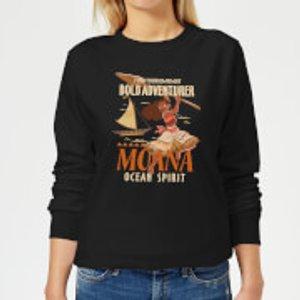 Disney Moana Find Your Own Way Women's Sweatshirt - Black - Xs - Black Ws 6403 000000 Xs General Clothing, Black
