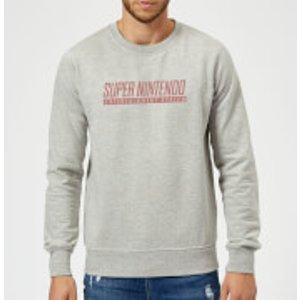 Nintendo Snes Men's Sweatshirt - Grey - 3xl - Grey Ms 2716 888888 3xl General Clothing, Grey