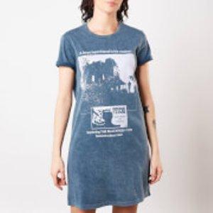 Psycho Mother Knows Best Women's T-shirt Dress - Navy Acid Wash - L Blue Dre 42438 37586c L General Clothing, Blue