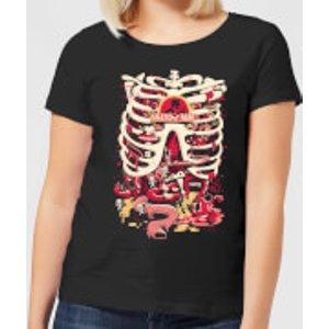 Rick And Morty Anatomy Park Women's T-shirt - Black - L - Black Wt 5645 000000 L General Clothing, Black
