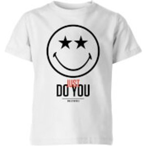 Smiley World Slogan Just Do You Kids' T-shirt - White - 5-6 Years - White Yt 3336 Ffffff Ys General Clothing, White