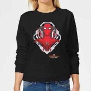 Marvel Spider-man Far From Home Web Tech Badge Women's Sweatshirt - Black - 5xl - Black Ws 16294 000000 5xl General Clothing, Black