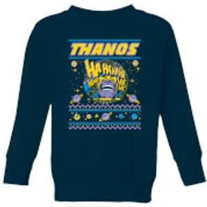 Marvel Thanos Christmas Knit Kids Christmas Sweatshirt - Navy - 9-10 Years - Navy Ys 9320 263147 Yl General Clothing, Navy