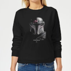 Star Wars The Mandalorian Poster Women's Sweatshirt - Black - S - Black Ws 22487 000000 S General Clothing, Black