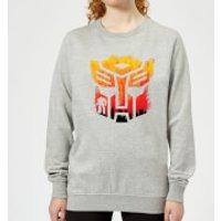 Transformers Autobot Symbol Women's Sweatshirt - Grey - S - Grey Ws 9345 888888 S General Clothing, Grey