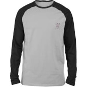 Transformers Decepticons Embroidered Unisex Long Sleeved Raglan T-shirt - Grey/black - S  Mls 31828 Grybla S General Clothing