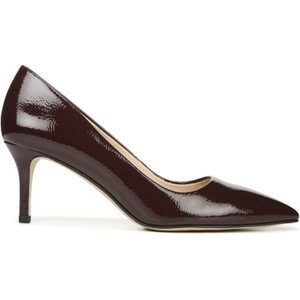 Burgundy Franco Sarto Tudor Leather Court Heel Red 754384, Red