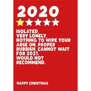 2020 Review Christmas Card, Standard Size By Moonpig Fse062 St