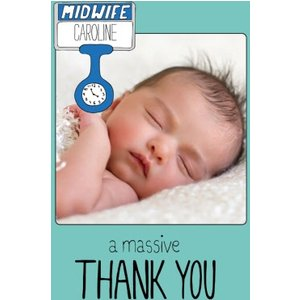 A Massive Thank You For The Midwife Photo Upload Card, Giant Size By Moonpig Nwe118