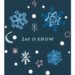 Abstract Design Let It Snow Christmas Card, Giant Size By Moonpig Tst008