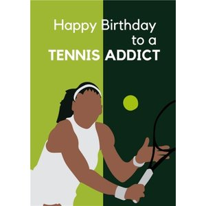 Anoela Happy Birthday To A Tennis Addict Card, Standard Size By Moonpig Ane040 St