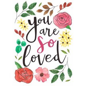 Any Occasion Card - Thinking Of You Are Loved Floral, Standard Size By Moonpig Nwe069 St