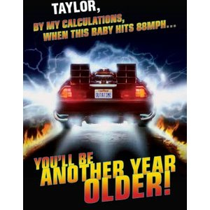 Back To The Future Birthday Card - De Lorean, Large Size By Moonpig Btf002 Lg