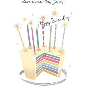 Birthday Card - Cake Card, Large Size By Moonpig Amr001 Lg