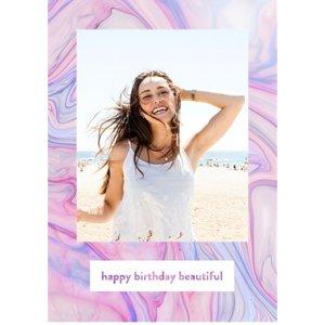 Birthday Card - Happy Beautiful, Large Size By Moonpig Ttc006 Lg