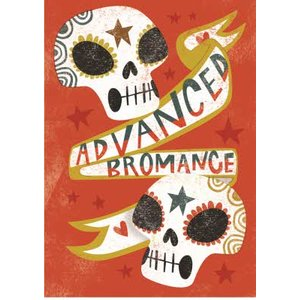 Birthday Card - Male Bromance Sugar Skulls, Giant Size By Moonpig Ska004