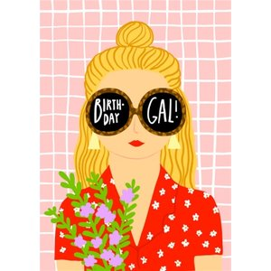 Birthday Gal Sunglasses Card, Large Size By Moonpig Cos031 Lg