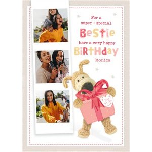 Boofle For A Super Special Bestie Photo Upload Birthday Card, Standard Size By Moonpig Boof234 St