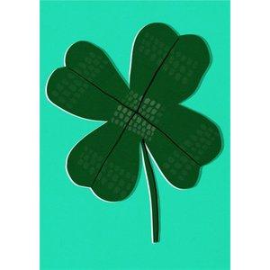 Boogaloo Four-leaf Clover Good Luck Card, Standard Size By Moonpig Bgl024 St