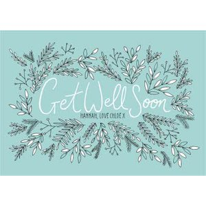 Botany Personalised Get Well Soon Card, Standard Size By Moonpig Btn009 St